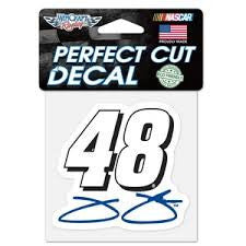 "Jimmie Johnson 4"" x 4"" NASCAR Perfect Cut Decal"