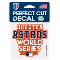 "Houston Astros MLB 4"" x 4"" Perfect Cut Decal - 2017 World Series"