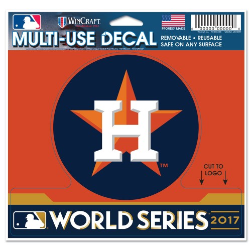 "Houston Astros MLB 4.5"" x 5.75"" Cut-to-Logo Multi-Use Decal - 2017 World Series"