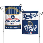 "Los Angeles Dodgers MLB 12.5"" x 18"" 2-Sided Garden Flag - 2017 World Series/League Champions"