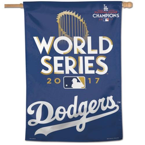 "Los Angeles Dodgers MLB 28"" x 40"" Vertical Flag - 2017 World Series"