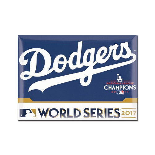 Los Angeles Dodgers 2017 League Champion/World Series Participant MLB Metal Fridge Magnet