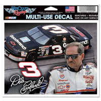 "Dale Earnhardt NASCAR 4.5"" x 5.5"" Multi Use Decal - Color Car Image"