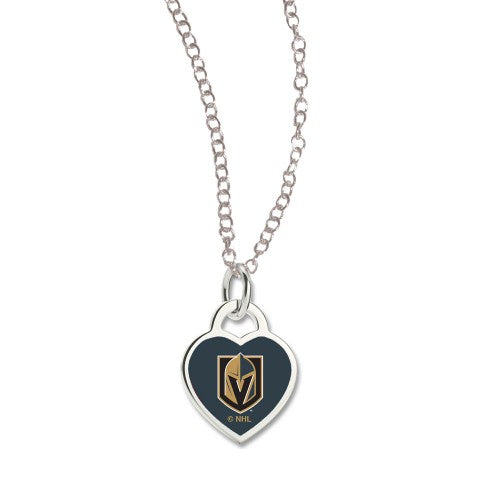 Vegas Golden Knights NHL 3D Heart Necklace - Coming Soon