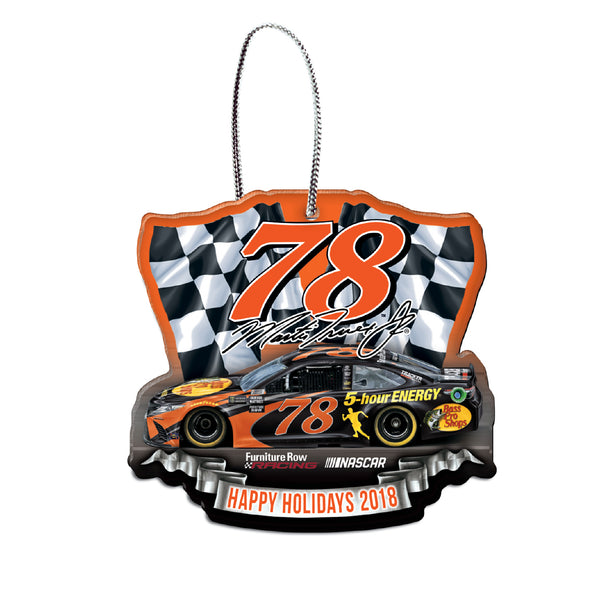 Martin Truex Jr NASCAR 2018 Dated Acrylic Ornament