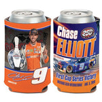 Chase Elliott NASCAR Can Cooler - First Cup Series Win (Image Shows Front and Back View)