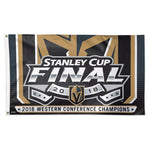 Vegas Golden Knights NHL 3' x 5' Single-Sided Deluxe Flag - 2018 Stanley Cup Western Conference Champions