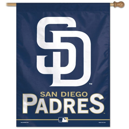"San Diego Padres MLB 27"" x 37"" Team Name Vertical Flag"