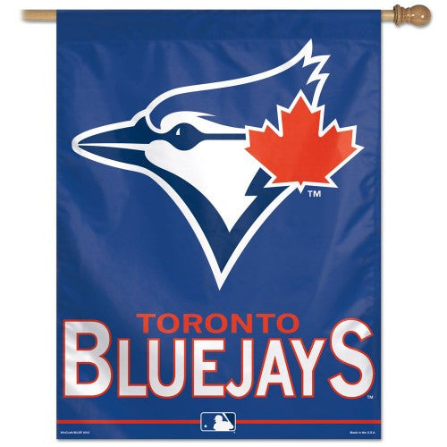 "Toronto Blue Jays MLB 27"" x 37"" Team Name Vertical Flag"