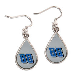 Dale Earnhardt Jr NASCAR Tear Drop Earrings