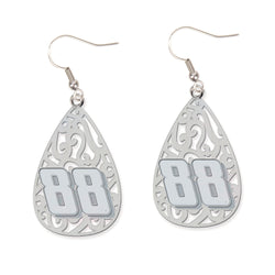 Dale Earnhardt Jr NASCAR Filigree Earrings