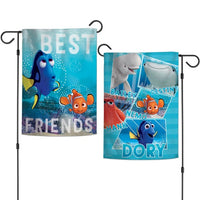 "Walt Disney Finding Nemo 2-Sided 12"" x 18"" Garden Flag - Best Friends"