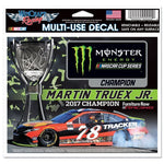 "Martin Truex Jr #78 NASCAR 4.5"" x 5.5"" Multi Use Decal - 2017 Champion"