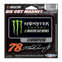 "Martin Truex Jr 2017 Monster Energy NASCAR Cup Series Champion 4.5"" x 3.5"" Cut-to-Shape Magnet"