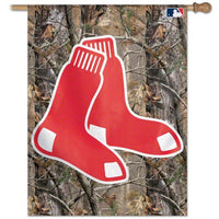 "Boston Red Sox MLB 27"" x 37"" Vertical Flag - Real Tree"