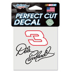 "Dale Earnhardt 4"" x 4"" NASCAR Perfect Cut Decal"