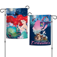 "Walt Disney Princess 2-Sided 12"" x 18"" Garden Flag - Ariel"