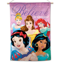 "Disney Movie Princesses 28"" x 40"" Vertical Flag - Believe in Yourself"