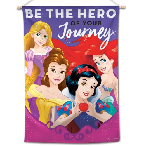 "Disney Movie Princesses 28"" x 40"" Vertical Flag - Be The Hero of Your Journey"