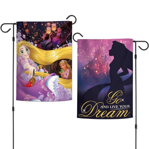 "Walt Disney Princess 2-Sided 12"" x 18"" Garden Flag - Rapunzel"