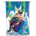 "Frozen Disney 28"" x 40"" Vertical Flag - Elsa, Anna, Kristoff, Sven, and Olaf"