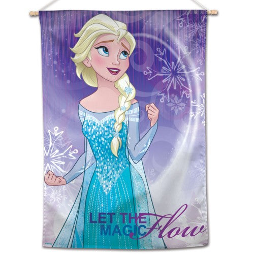 "Frozen Disney 28"" x 40"" Vertical Flag - Elsa Let The Magic Flow"