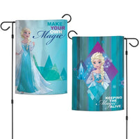"Walt Disney Frozen 2-Sided 12"" x 18"" Garden Flag - Elsa Make Your Own Magic"
