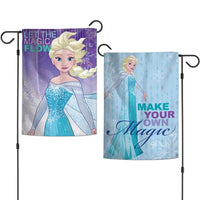 "Walt Disney Frozen 2-Sided 12"" x 18"" Garden Flag - Elsa Let The Magic Flow"