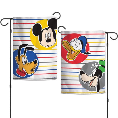 "Walt Disney Mickey Mouse 2-Sided 12"" x 18"" Garden Flag - Mickey and the Gang"
