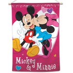 "Mickey Mouse Disney 28"" x 40"" Vertical Flag - Mickey And Minnie Love"