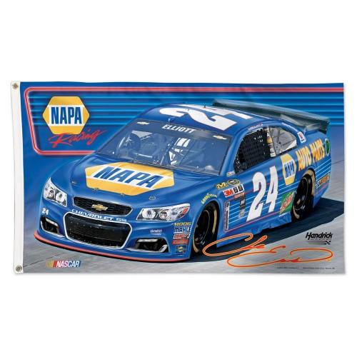 Chase Elliott #24 NASCAR 3' x 5' Single-Sided Deluxe Flag - NAPA