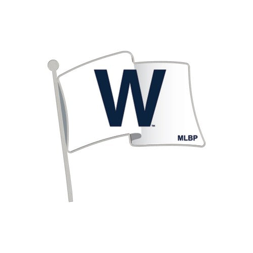 Chicago Cubs MLB Collectible Pin - Cubs Win!/W Flag
