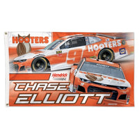 Chase Elliott NASCAR 3' x 5' Single-Sided Deluxe Flag - Hooters