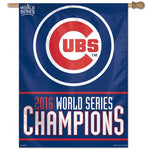 "Chicago Cubs MLB 27"" x 37"" Vertical Flag - 2016 World Series Champions"