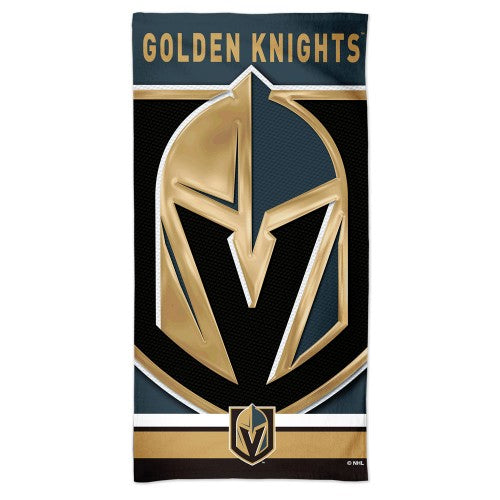 Vegas Golden Knights NHL Spectra Beach Towel - Team Graphics