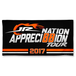 Dale Earnhardt Jr NASCAR Spectra Beach Towel - 2017 Fan Appreci88ion Tour