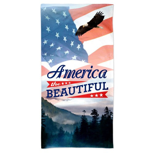 Support America Patriotic Spectra Beach Towel - America The Beautiful