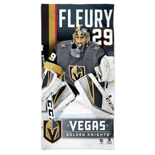 Vegas Golden Knights NHL Spectra Beach Towel - Marc-Andre Fleury