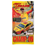 Joey Logano NASCAR Spectra Beach Towel - 2018 Monster Energy Cup Series Champion
