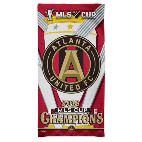 Atlanta United FC MLS Spectra Beach Towel - 2018 MLS Cup Champions