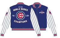 Chicago Cubs 2016 World Series Champions MLB Royal/White Poly-Twill Jacket by JH Design