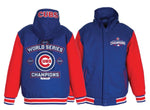 Chicago Cubs 2016 World Series Champions MLB Reversible Poly-Twill Hooded Jacket by JH Design