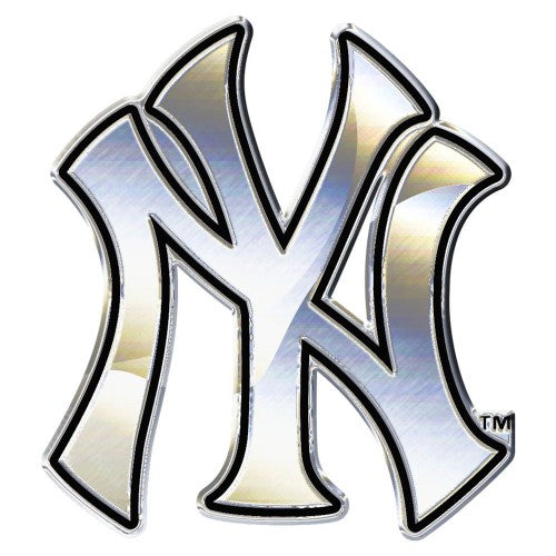 New York Yankees MLB Premium Chrome Free Form Auto Emblem