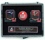 Super Bowl 51 NFL Collectible Commemorative 3 Pin Set - Patriots/Falcons