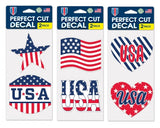 "Support USA 4"" x 4"" Patriotic Perfect Cut Decals, set of 2 designs - PRE-ORDER, Secure Yours Now!"