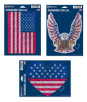 "Support USA Patriotic 5"" x 7"" Cut to Logo Shimmer Decal - PRE-ORDER"