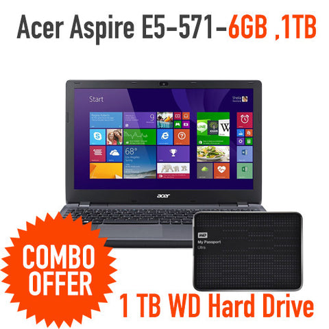 Acer Aspire E5-571 Laptop + WD My Passport 1TB - Best Buy Best Price : Shop Online  Electronics , Computers with daily Deals and Promotions