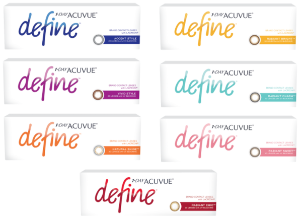 1-Day Acuvue Define (30 Pack) - Daily Colored Lenses