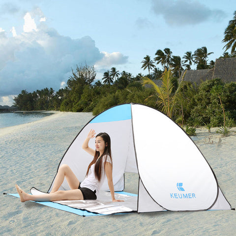 Beach Tent/Sun Shelter for 1-2 person with Automatic Popup & 90 % UV-Protective - SookieWear