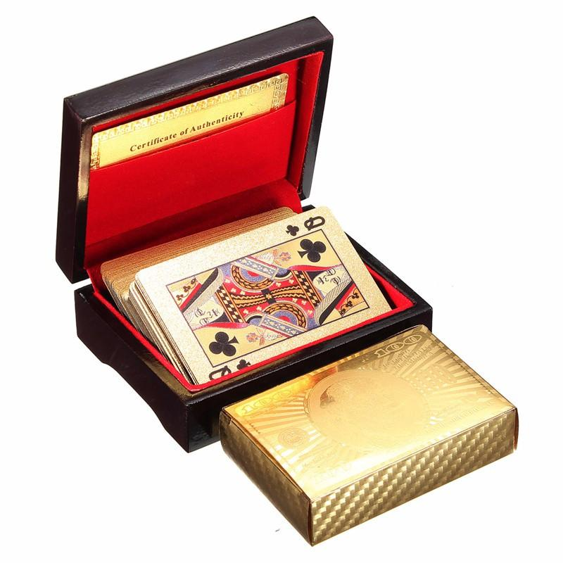 24K GOLD-PLATED PLAYING CARDS WITH CASE - SookieWear